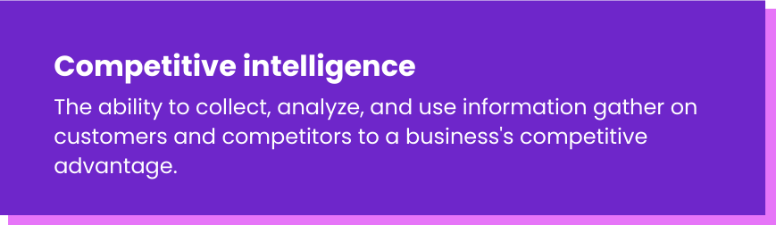 Competitive intelligence definition