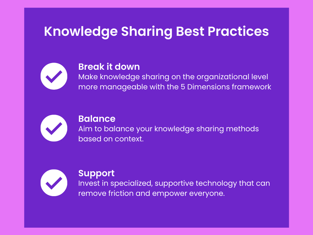 Knowledge sharing best practices