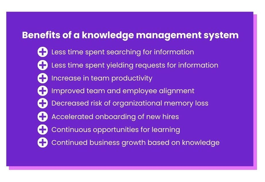 the benefits of a knowledge management system