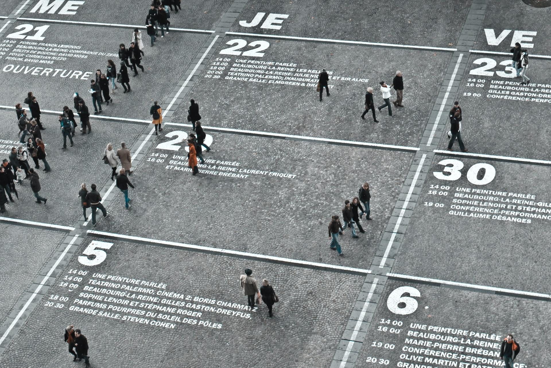 people walking in a city