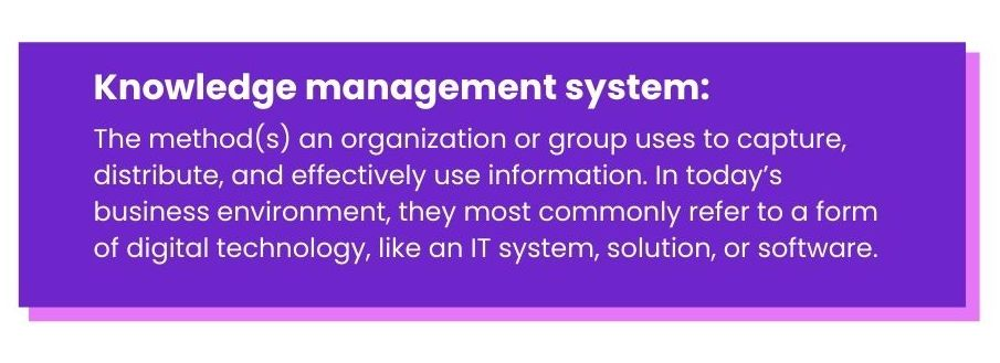 the definition of knowledge management system