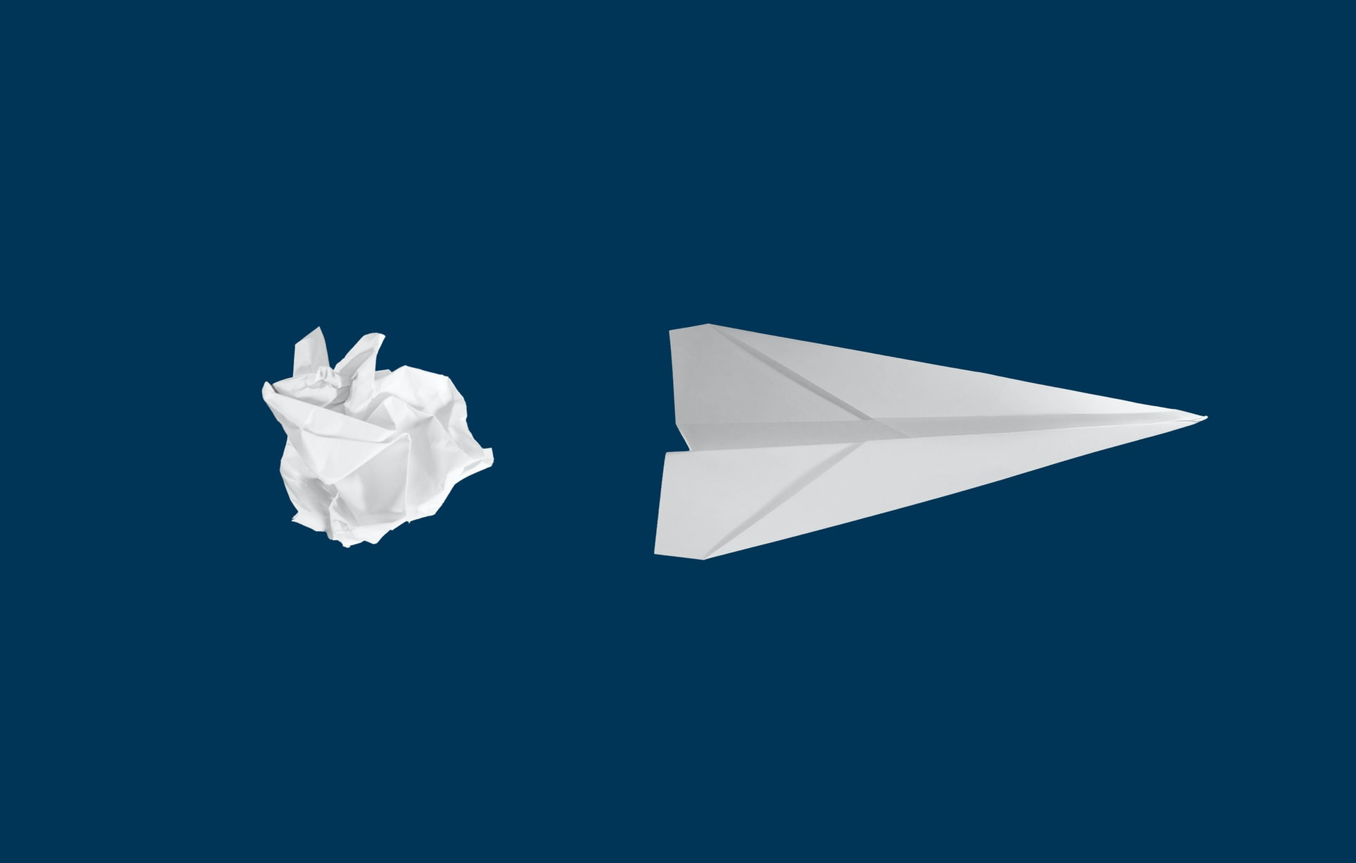 Paper ball and a paper plane: The difference between democratizing data and insights is all about the output.