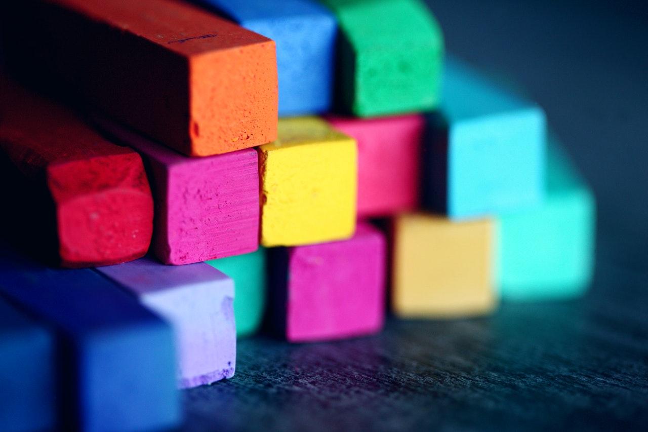 multi-colored building blocks
